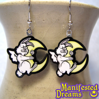Moon Bunny Earrings by ManifestedDreams