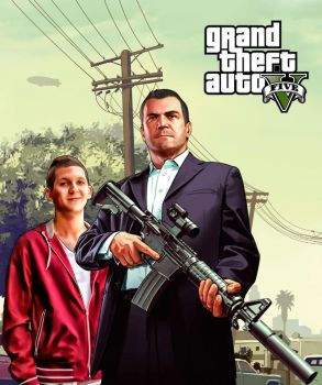 My brother and the GTA V by istvanantal