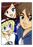 Red, Yuna and Loli Mask Selfie by ArthurT2013