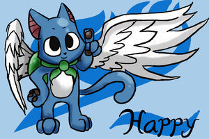 Happy from Fairy Tail by MakePastaNot-War