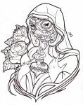 day of the dead virgin mary by Nehemya