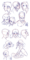 Sketch Dump :: Faces I by stinawo