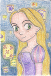 Rapunzel and the Lanterns by annasohma