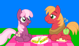 Picnic WIP by HeartinaThePony