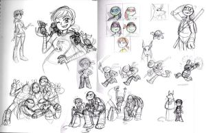TMNT 2012 sketches by queenbean3