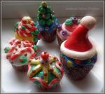 muffins with modeling clay by MrsEfi