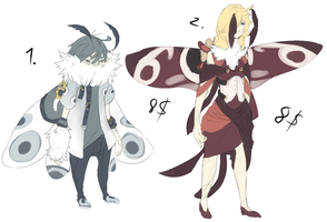 Adoptables: Moths Batch 2 by Waschmittelpulver