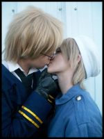 SuFin Cosplay Kiss by D3ra