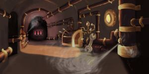 Steamship Interior by Inaaca
