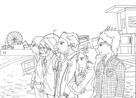 Paramore - Lineart by charr3