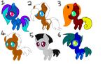 Pony Adoptables (only 4 points) by Cookiemaster-Artwork