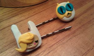 Fionna and Cake Bobby Pin Set by Gynecology