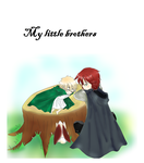 Aph - Hurry up and growth.. little Albion by Mi-chan4649