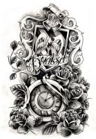 Commission - crest and clock by WillemXSM