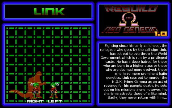 Rebuild of Neo Genesis: 1.0 - Link Bio. by SpaceG92