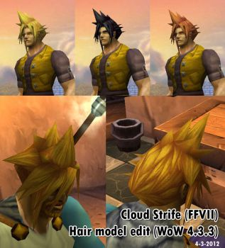 WoW - Cloud Hair for Human Male Mod by sloth85