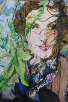 Ne m`oublie pas in watercolour by ginqueeen