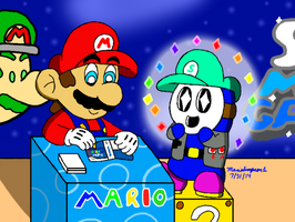 Meeting Mario by MarioSimpson1
