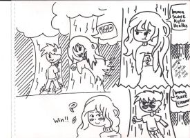 Kyto the human and eleanor mini comic by ask-kytothehero