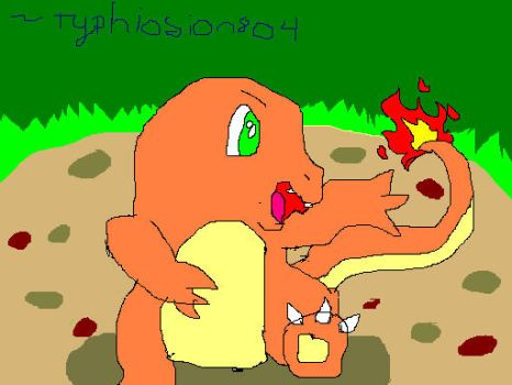 A wild CHARMANDER appeared! by Typhlosion804