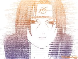 Itachi text photo by TheHiddenLeaf95