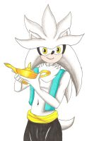Arabian Nights: Silver the Hedgehog by GothNebula