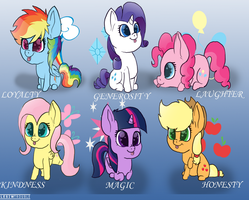 Lazy pic of mane six by LesiwTroubleMaker
