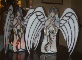 Stained Glass Angels by Veggie-San