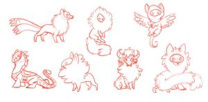 Masked Creature Adoptables Sketch by jealousapples