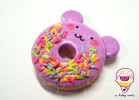purple bear donut by KPcharms
