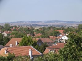 Houses and Fruska Gora by KaiserBREE