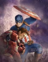 Captain America and Iron Man by KarimT