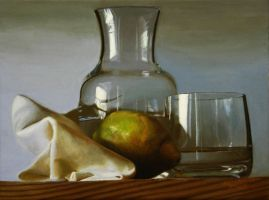 School Art- Still Life Glass by Agirl3003