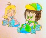 Gift: ChibiFrankie racing with ChibiEnergeia by FWAOfficial