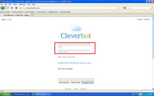 Cleverbot IS Clever After All by lovewarandhate