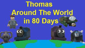 Thomas Around The World in 80 Days Poster by Dalek44