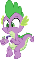 Spike is playing with Rarity's figure. by MikeTheUser