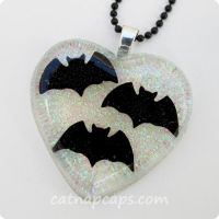 Batty Love Necklace by CatNapCaps