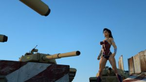 Wonder Woman: after shell impact.  Camera 2 by DahriAlGhul