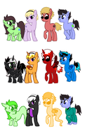 Ponystuck Beta Foals by cat4lyst