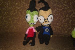 project invader zim: zim boy and dib by michelle-murder