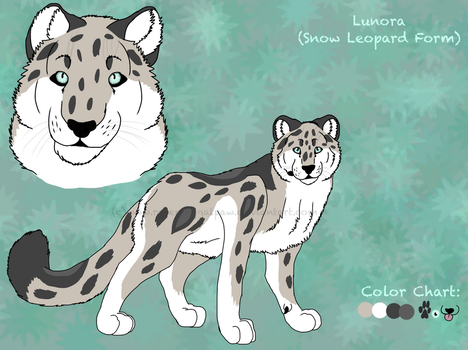 Lunora Reference (Snow Leopard Form) by RolePlayGalPaw