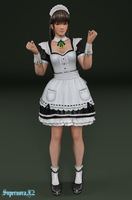 Hitomi: Maid by SupernovaX2