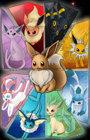 Eeveelutions - I suck at titles by Lyndarsia