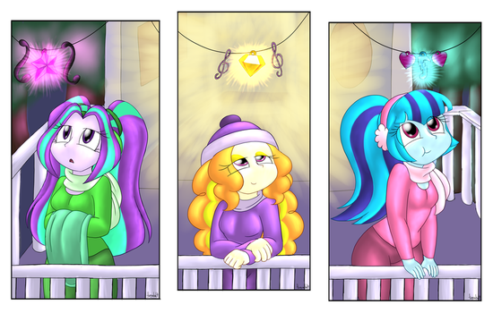 Dazzlings: Finally a moment of peace by thegreatcat14