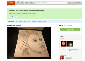 Miley Cyrus (for sale on Etsy now!!) SOLD by MCRObsessedFrankFan