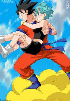 DBZ: Son Goku with Bulma by IITheDarkness94II