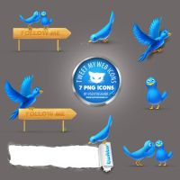 Twitter Icons TweetMyWeb 7 PNG by LazyCrazy