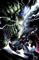 Hulk Thor - Pencils: Skage by shurita