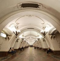 Arbatskaya Moscow Metro by Graid